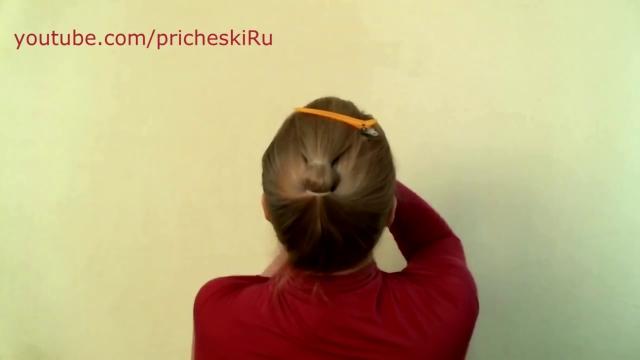 прически из валика для волос видео на ютубе