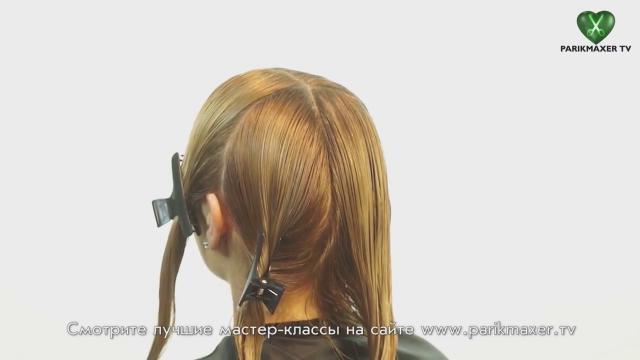 Как стричь лесенку на длинные волосы видео мастер класс