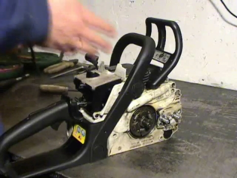 Ремонт смазки цепи бензопилы  видео