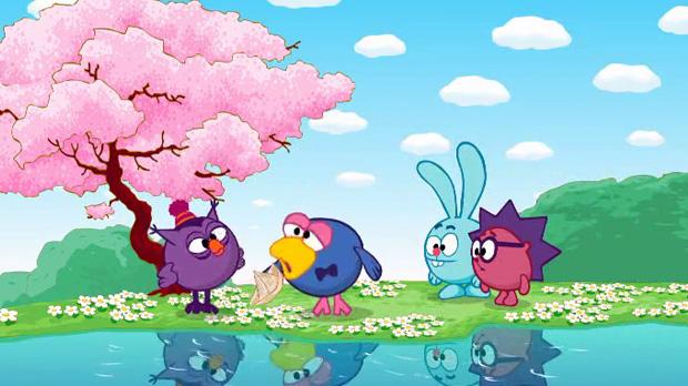 Картинки весна смешарики