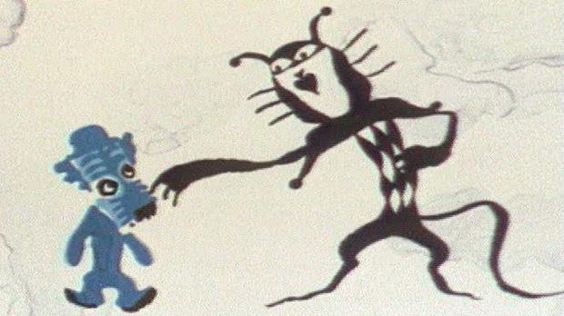 Кот из мультика голубой щенок картинки